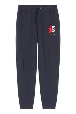 Спортивные брюки темно-синего цвета Burberry 10188935