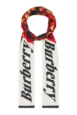 Узкий шарф с ярким принтом Burberry 10188948