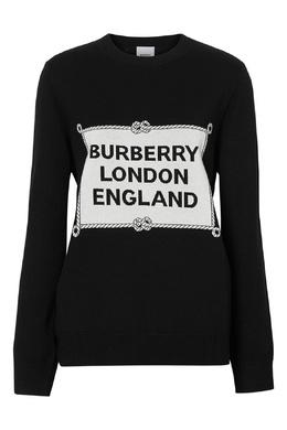 Черный свитер с морским шнуром Burberry 10188836