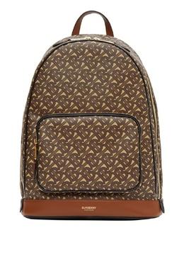 Темно-коричневый рюкзак с монограммой Burberry 10188841