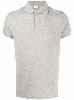 Saint Laurent меланжевая рубашка-поло 607493YBLG2