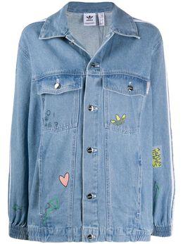 Fiorucci джинсовая куртка с принтом из коллаборации с adidas FL4147