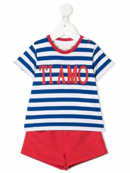 Alberta Ferretti Kids striped romper 024412