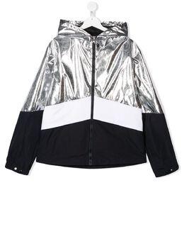 Moncler Kids куртка на молнии с контрастными вставками 1A7052054AGT