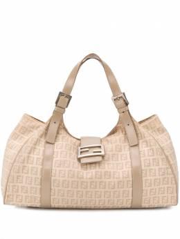 Fendi Pre-Owned маленькая сумка-тоут с узором Zucca FENDI