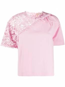 No. 21 футболка со вставкой в технике кроше 20EN2M0G1015262