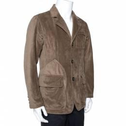 Giorgio Armani Olive Green Velour Borgo 21 Jacket M