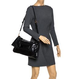 Miu Miu Black Leather Foldover Shoulder Bag 272853