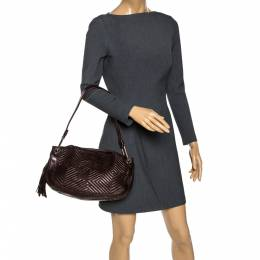 Bally Brown Leather Drawstring Shoulder Bag 273222