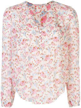 Veronica Beard плиссированная блузка с цветочным принтом 2002NP0114746