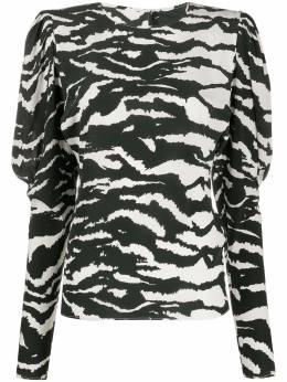 Isabel Marant блузка Favallia с зебровым принтом HT168720P020I