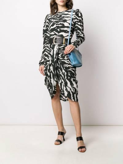 Isabel Marant блузка Favallia с зебровым принтом HT168720P020I - 2