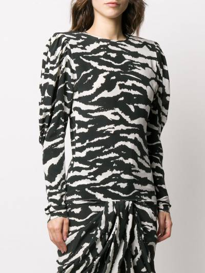 Isabel Marant блузка Favallia с зебровым принтом HT168720P020I - 3