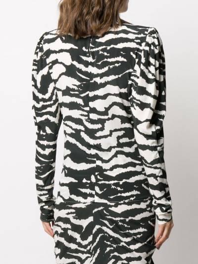 Isabel Marant блузка Favallia с зебровым принтом HT168720P020I - 4