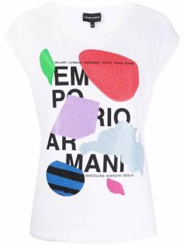 Emporio Armani футболка с графичным принтом 3H2T6A2JQAZ