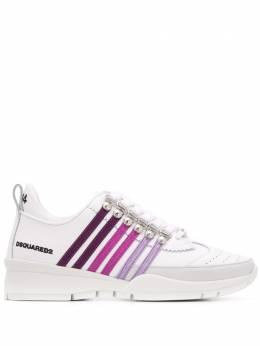 Dsquared2 кроссовки с брогированием SNW010101502700