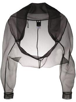 Pinko sheer cropped jacket 1B20677980