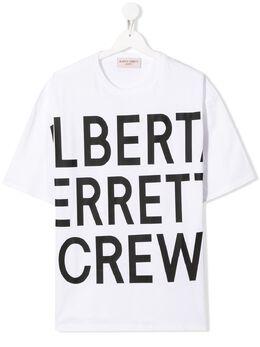 Alberta Ferretti Kids футболка с логотипом 024267