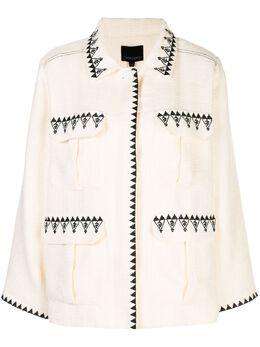 Cynthia Rowley куртка Damen с карманами 20R1JK05SA
