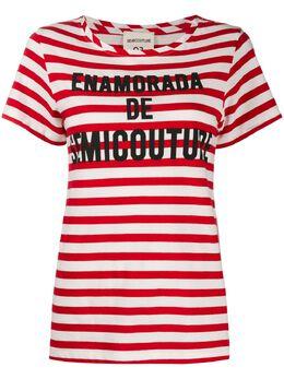 Semicouture футболка в полоску с принтом S0SJ25