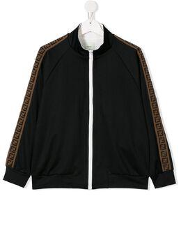 Fendi Kids TEEN FF trim bomber jacket JUH011A69D