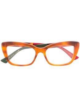 Gucci Eyewear очки в оправе 'кошачий глаз' GG0165O007