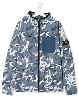 Stone Island Junior куртка с камуфляжным принтом MO721641337