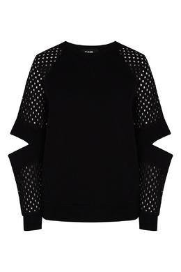 Черный свитшот с вышивкой ришелье Karl Lagerfeld 682189116