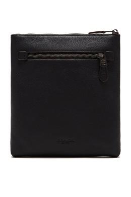 Черная кожаная сумка-мессенджер Coach 2219189182