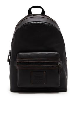 Черный кожаный рюкзак Academy Coach 2219189180