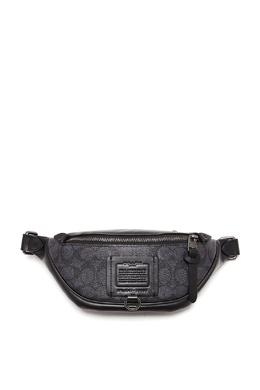 Черная поясная сумка из кожи и канваса Rivington Coach 2219189178