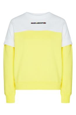 Двухцветный свитшот с логотипом Karl Lagerfeld 682189141