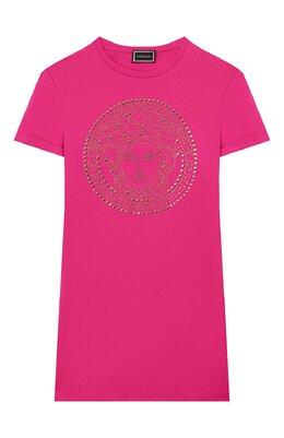Хлопковое платье Versace YC000239/YA00079/8A-14A