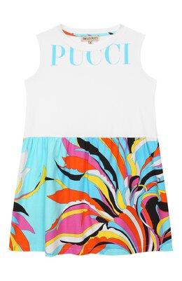 Хлопковое платье Emilio Pucci 9M1032/MX170/5-8