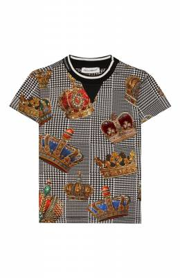 Хлопковая футболка Dolce&Gabbana L1JTBK/G7VYI
