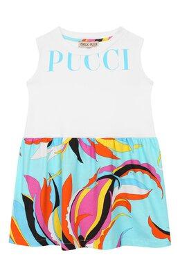 Хлопковое платье Emilio Pucci 9M1032/MX170/1-4