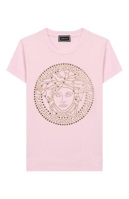 Хлопковая футболка Versace YC000278/YA00019/8A-14A