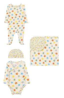 Комплект из комбинезона с боди и шапки с одеялом Stella McCartney 540075/SMJE9