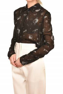 Полупрозрачная блуза с рисунками Pinko 2198189205