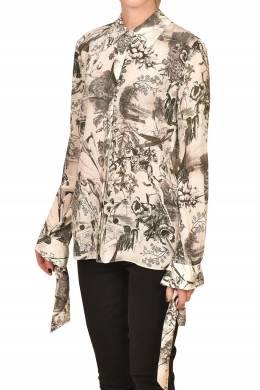 Бежевая блуза с узором Pinko 2198189203