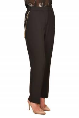 Черные брюки с золотистым аксессуаром Pinko 2198189204