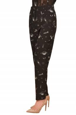 Черные брюки с белыми рисунками Pinko 2198189207