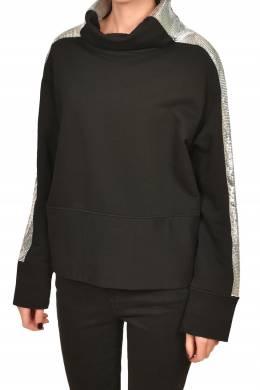 Черная блуза с серебристой отделкой Pinko 2198189211