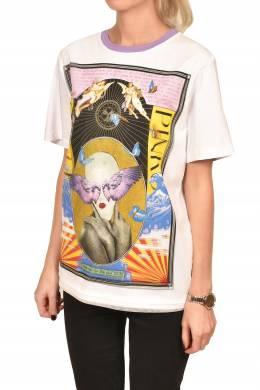 Белая футболка с цветным узором Pinko 2198189213