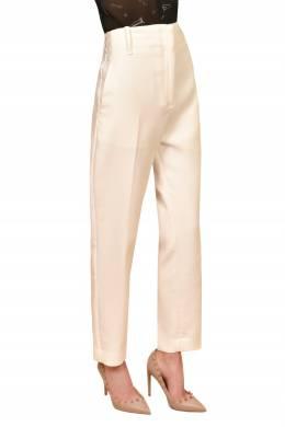 Прямые брюки цвета экрю Pinko 2198189200