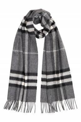 Темно-серый шарф в клетку Burberry 10189110