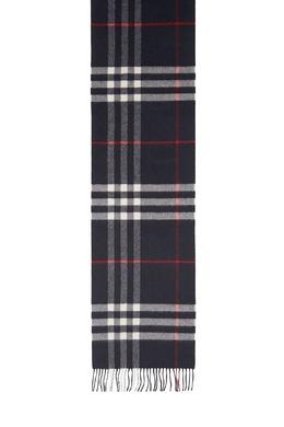 Темно-синий кашемировый шарф Burberry 10188666