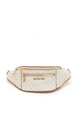 Бело-коричневая поясная сумка Mott MICHAEL Michael Kors 984189255