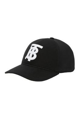 Черная кепка с монограммой TB Burberry 10188612