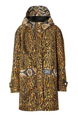 Куртка с анималистичным принтом Burberry 10188591